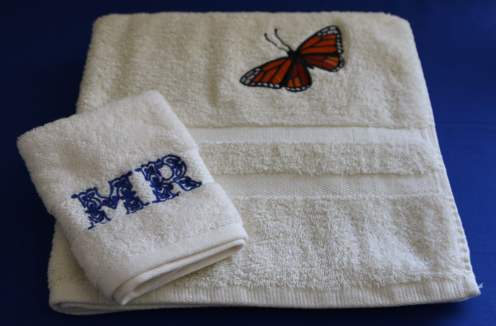 Embroidered or Monogrammed towels and facecloths