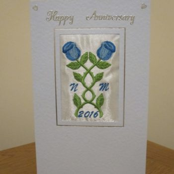 Personalised card for a 1st wedding anniversary.