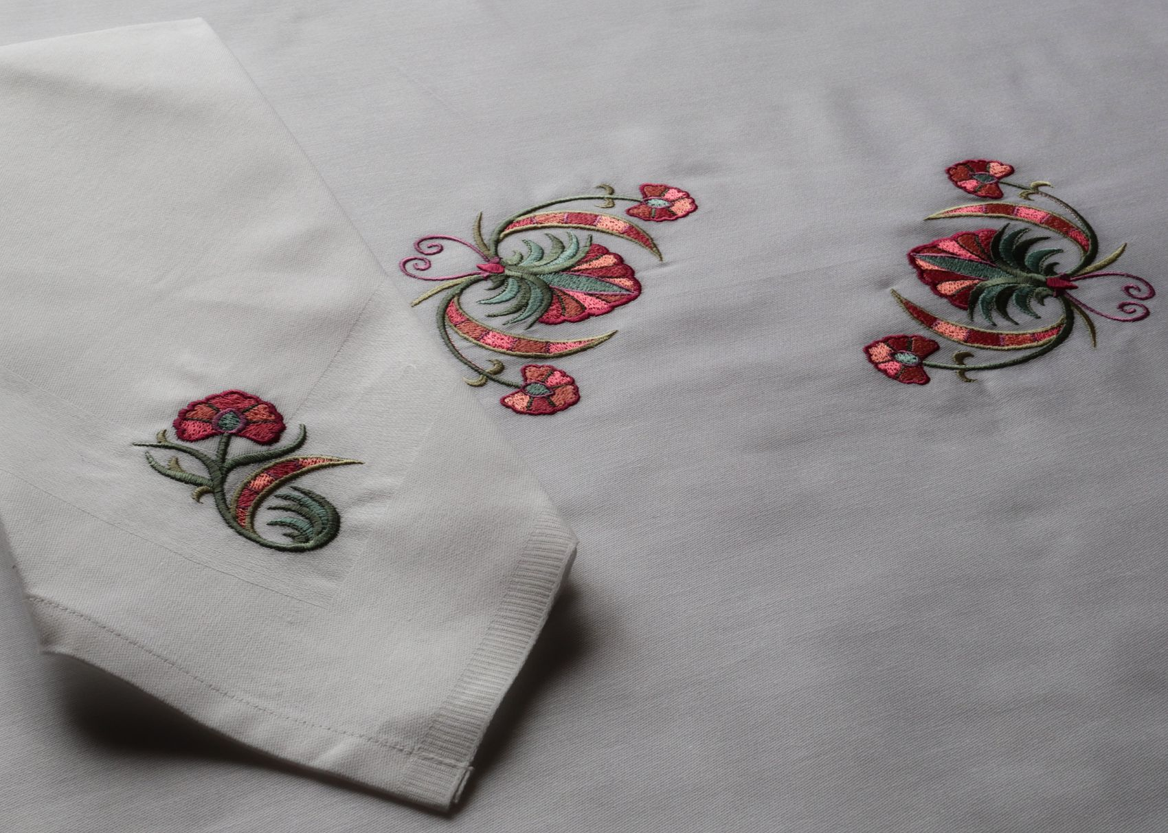 Seasons themed tablecloths and matching napkins are made to order