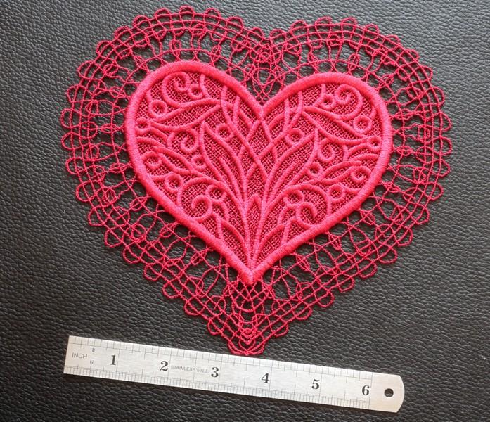 Valentine lace doily
