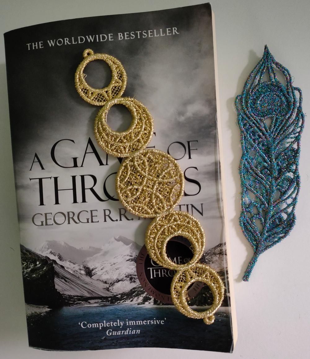 Metallic Thread Bookmark